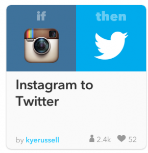 Instagram to twitter automation recipe